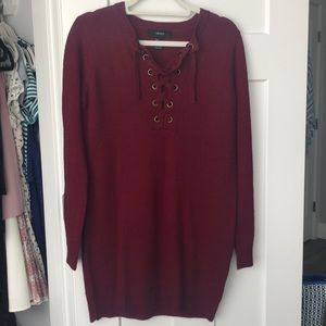 Forever 21 Maroon Sweater Dress! Size Small